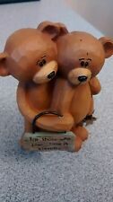 "Primitive Bear Figurine by Mary Ann June, ""for those who love...time is eternal"