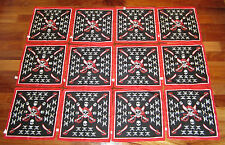 12 NEW PIRATE BANDANAS SKULL AND CROSSBONES JOLLY ROGER HANDKERCHIEF PARTY FAVOR