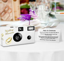 PERSONALIZED Gold Rings Disposable Camera - 8 Single Use Cameras-wedding camera
