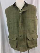Saddle Country Classic Wear Tweed Vest Jacket Wool Blend Made in England Size XL