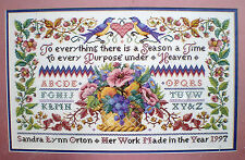 "Bucilla / Sandy Orton ""To Everything A Season Sampler"" Counted Cross Stitch Kit"