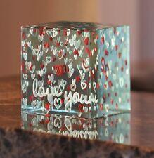 Spaceform Handmade Luxury Paperweight Valentine Love Gift Ideas Her & Him 01437