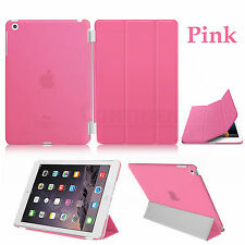 US Magnetic Slim Sleep Wake Stand Smart Case Cover For Apple iPad 2 3 4th Pink