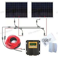 360W 2*180Watt Solar Panel Kit W/ MPPT Controller for 24V Home Boat System