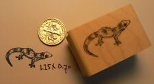 Gecko rubber stamp miniature WM 1x0.7""