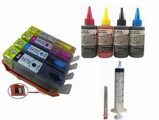 4 refill hp 564 Ink Cartridges+4x100​ml refill ink for Officejet 4620 4622 3520