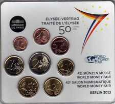FRANCE Miniset série d'Euro Traité de l'Elysée 2013 BU