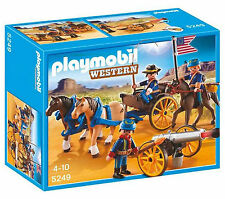 * playmobil * 5249 * horse-drawn carriage with cavalerie rider * western * bnib *