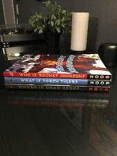 "Very Rare Disney 3 Books ""Who Is Rocket Johnson?"" 2008-2012 Comics Complete Set"