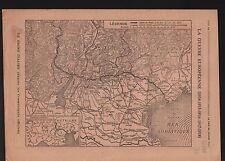 WWI Map Carte Suisse Austria Österreich Trentino-Alto Adige 1918 ILLUSTRATION