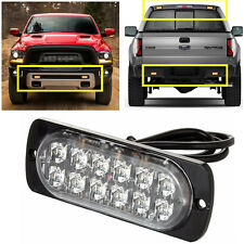 Ultra Slim Bright Car Truck 12-LED Surface Mount Flashing Strobe Warning Lights
