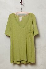 NWT Anthropologie Slouched Pocket Tee LARGE Green By Dolan