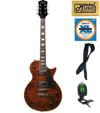Oscar Schmidt OE20 Vintage Style Electric Guitar, Quilt Tiger Eye, OE20QTE KIT
