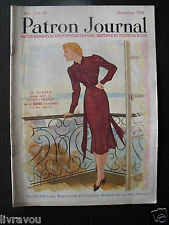 ▬► Patron Journal Favoris 11/1938  Magazine de Mode No Vogue Art Déco Fashion