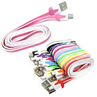 Micro Flat Noodle USB Data Cable Sync Charge Cord For Galaxy S4 Note HTC LG