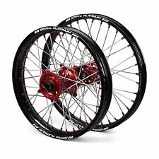 "Honda CR125 CR125R 2002 2003 2004 2005 2006 Wheels Set Black Red 19"" 21"" Rims"