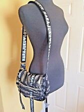 "Harajuku Lovers Delish Shoulder Bag  Silver & Black~9""H x 10.5""W x  4""D"