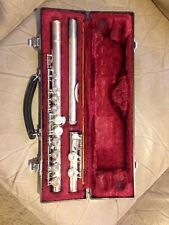 Yamaha YFL-221, Silver-Plated Student Flute w/ Case, Excellent Condition, JAPAN