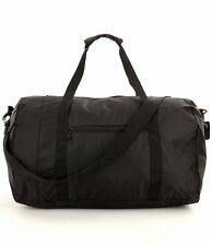"""NEW LUGGAGE AMERICA 20"""" CARRY-ON SIZE PACKABLE DUFFEL WITH REMOVABLE STRAP BLACK"""