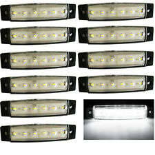 10x  6 LED Clearence Truck Trailer Side Marker Indicators Light Lamp 12V White