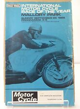 Mallory Park Race of the Year Motor Cycle Race Programme 25th September 1966
