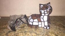 Brand New Tiffany Style Cat Stained Glass Lamp