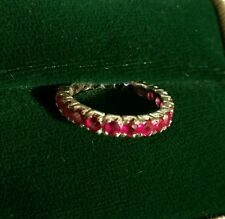 Gorgeous Vintage 1cttw Ruby and Platinum wrap around Eternity Ring
