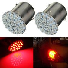 2x Rouge BA15S P21W 1156 1073 22 LED 1206 SMD Feux Lumière Lampe Ampoule Voiture
