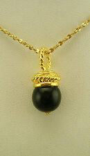 Nolan Miller Simulated Onyx Ball Pendant Necklace (QVC sold out)