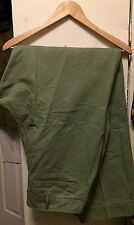 Vintage 40s WWII US ARMY HBT Herringbone 13 Star Buttons OD Trousers Pants. 36