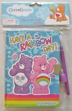 CARE BEARS Diary with Pen Lock and Keys Journal Blank Book Cheer Share Bear