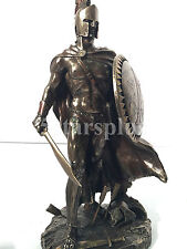Leonidas with sword and shield King of Sparta Warrior Statue Sculpture figurine