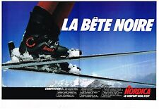 Publicité Advertising 1981 (2 pages) Les Chaussures de ski Nordica