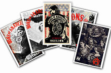 SONS OF ANARCHY - SET OF 5 - A4 POSTER PRINTS # 1
