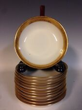 12 Lenox Gold Encrusted Band Berry/Dessert Bowls Arts & Crafts/Deco Pre1930