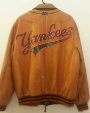 Vintage NEW YORK YANKEES Mens LRG Leather Jacket Mirage MLB Genuine Merchandise