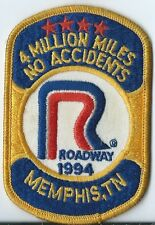 Roadway Express 1994 4 million miles Memphis TN  drivers patch 4X2-3/4 inch