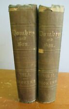 DOMBEY AND SON by Charles Dickens, 2 Vols 1846-1848 with H K Browne Illus