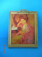 DOLLHOUSE MINIATURE ONE INCH  SCALE MOUNTED PRINT BY BK