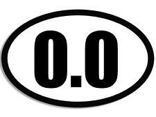 3x5 in Oval 0.0 Sticker -decal funny run tri marathon triathlon lazy don't miles