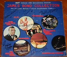 JAMES BOND COLLECTION 2x LP SIGNED BY 7 BOND GIRLS UACC REGISTERED DEALERS
