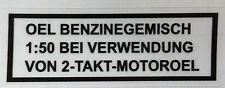 Puch Trockenabzug Schwarz Öl Benzingemisch 1:50 Bei Verwendung v. 2-Takt Motoröl
