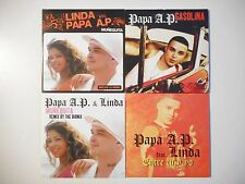 Unique Lot de 4 CD Single ▬ PAPA A.P. & LINDA ▬ Port GRATUIT