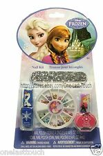 DISNEY 5pc Nail Kit/Set FROZEN Polish+File+Wood Stick+GEMS/RHINESTONES (carded)