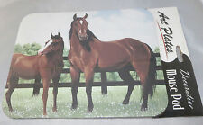 HORSES Mouse Pad Pasture Fence Non-Slip Rubber Backing New Colt Trees Grass Mom