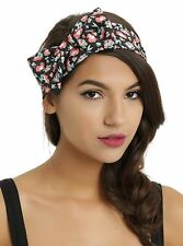 Disney The Little Mermaid Ariel Floral Rose Bow Stretchy Headband Loungefly NWT