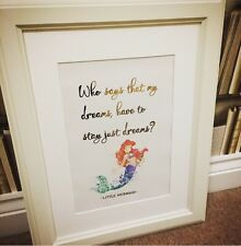 NEW DISNEY Little Mermaid  QUOTE Art picture Print Poster UNFRAMED