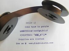 "Brother 600 Deluxe Typewriter Ribbon Twin Spool Purple Ink  1/2"" Cloth Ribbon"
