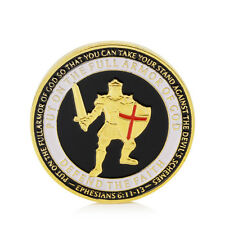 Gold Plated Put On The Armor of God Navy Commemorative Challenge Coin Collection