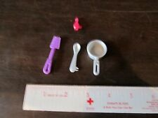 Barbie replacement parts pan pot spoon spatula perfume/ ketchup bottle flipper